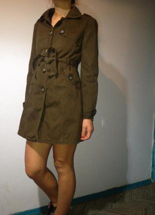 Пиджак пальто куртка плащ хлопок весна лето осень
