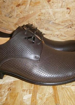 Туфли мужские летние классика натуральная кожа шнуровка