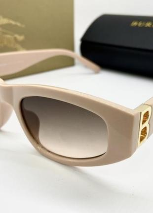 Burberry очки женские солнцезащитные  в оправе пудра с линзами градиент