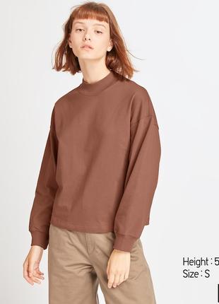 Uniqlo свитшот футболка 100% хлопок
