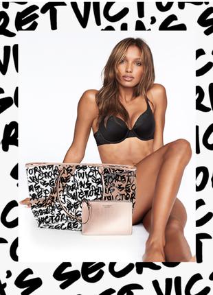Пляжная сумка victoria's secret с косметичкой, шоппер. викториас сикрет