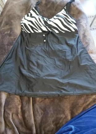 Купальник танкини ( платье) цельный. размер 58-60
