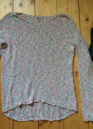 Красивий вязаний теплий свитер кофта размер м-л