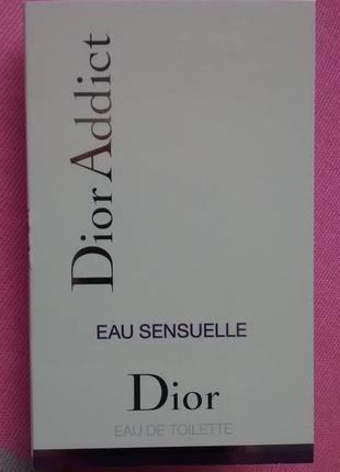 Пробник dior addict eau sensuelle от christian dior