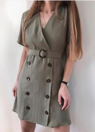 Оливкова сукня