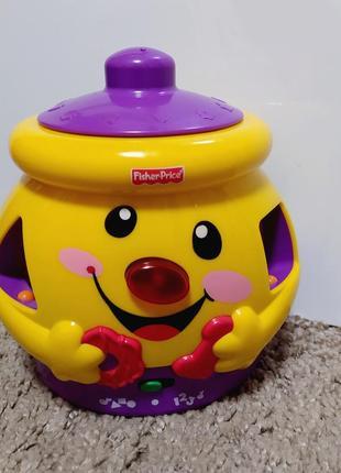 Горшочек горшок сортер фишер прайс игрушка музыкальная іграшка англ мова новий