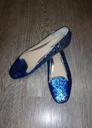 Туфли, балетки блестящие