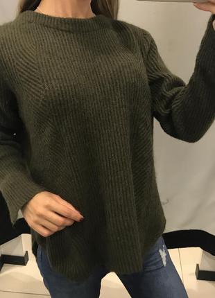 Теплый свитер с шерстью альпаки marks spencer