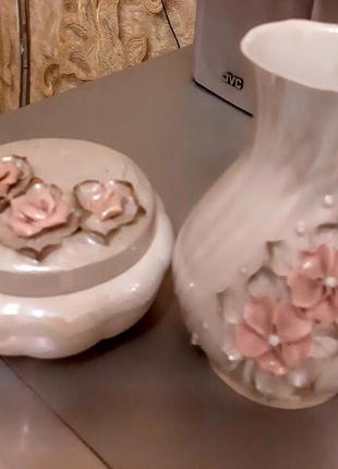 Вазочка для цветов и шкатулочка для украшений