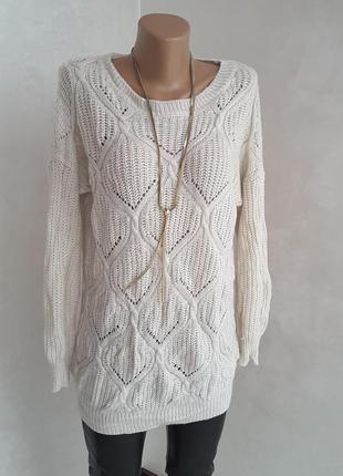 Удлененный свитер кофта atmosphere р. 10 на м - л размер