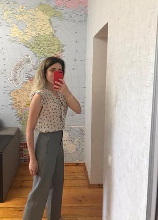 Полупрозрачная блузка atmosphere с бантиками женская блуза с завязкой2 фото