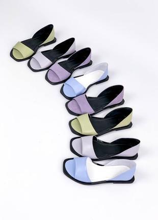 Босоножки =nikart= цвет: grey lilac, натуральная кожа10 фото