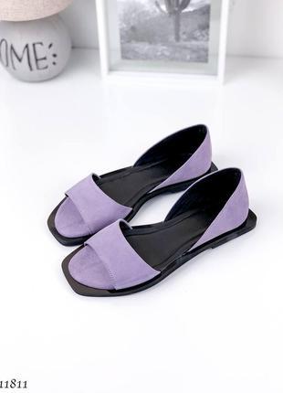 Босоножки =nikart= цвет: purple, натуральная замша