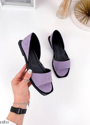 Босоножки =nikart= цвет: purple, натуральная замша2 фото