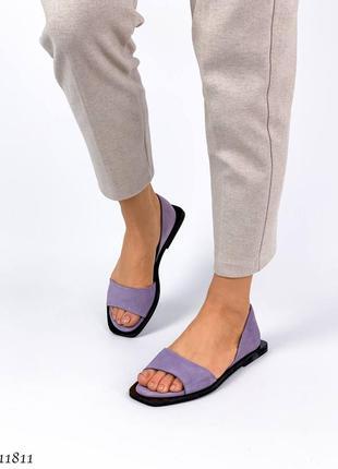 Босоножки =nikart= цвет: purple, натуральная замша3 фото