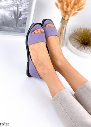 Босоножки =nikart= цвет: purple, натуральная замша7 фото