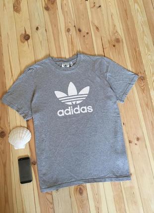 Поло-футболка adidas originals с большим логотипом