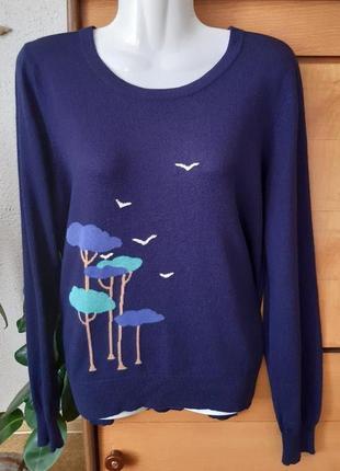 Оригинальный свитер дорогого английского бренда dickins & jones, цвет темнее1 фото