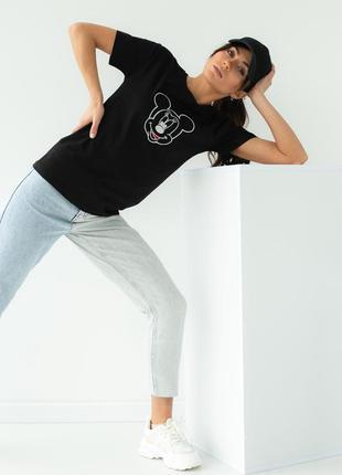 Женская футболка свободного фасона