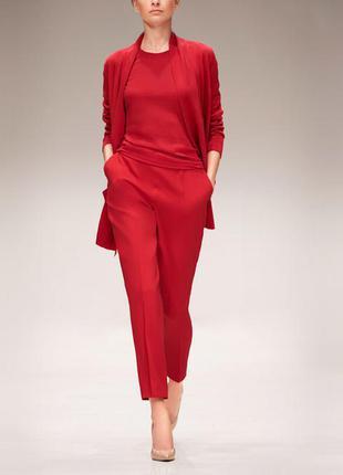 Базовый красный джемпер, свитер, кофта. 100% шерсть.