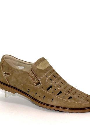 Мужские летние туфли хаки l932-202t