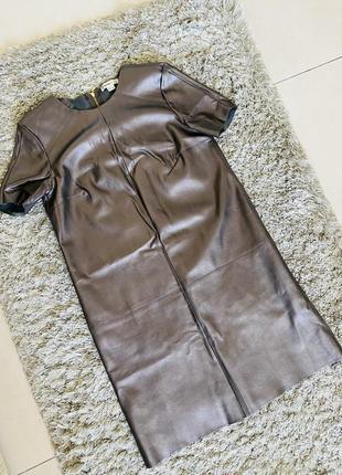 Платье футляр из экокожи