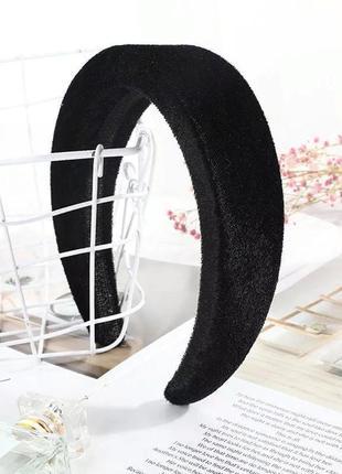 Объемный бархатный обруч,повязка для волос