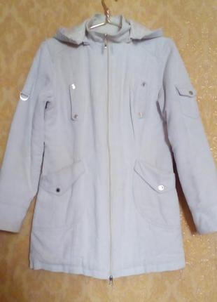 Удлинённая весенняя осенняя  вельветовая куртка  с капюшоном.  выбирайте подарок!!!