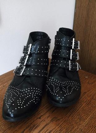 Ботинки челси черевики челсі серебреная фурнитура з срібною фурнітурою