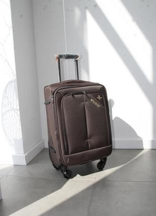Коричнева валіза misely коричневый чемодан