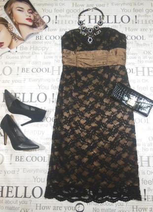 Вечернее , кружевное платье футляр