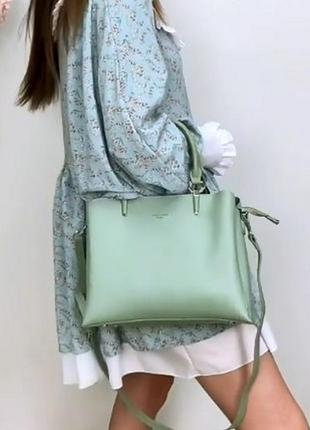 Женская сумка эко-кожа david jones мятная