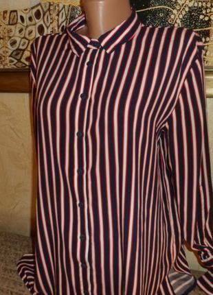 Натуральная синяя блуза в полоску lcw casual2 фото