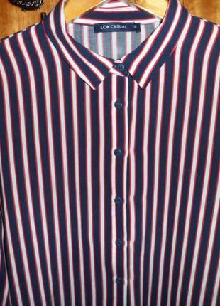Натуральная синяя блуза в полоску lcw casual