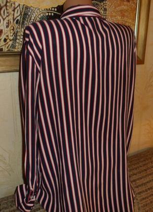 Натуральная синяя блуза в полоску lcw casual3 фото