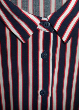 Натуральная синяя блуза в полоску lcw casual5 фото
