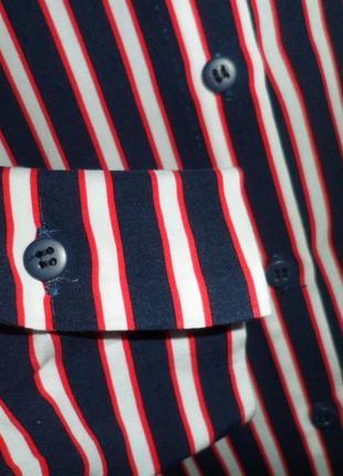 Натуральная синяя блуза в полоску lcw casual6 фото