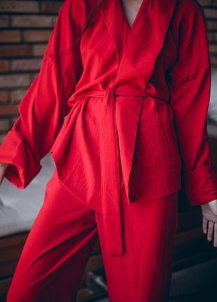 Лёгкий костюм с кюлотами5 фото