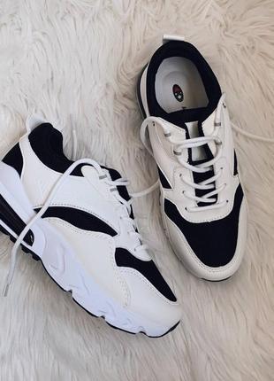 🖤стильные бело- черные кроссовки