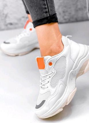 Кроссовки белые,  маломеры!1 фото