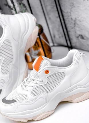 Кроссовки белые,  маломеры!2 фото