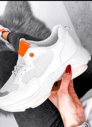 Кроссовки белые,  маломеры!4 фото