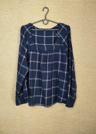Хлопковая блуза блузка в клетку