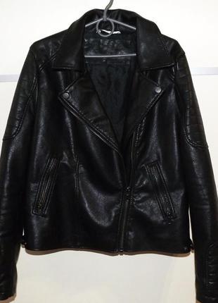 Кожаная косуха , матовая !!. стильная кожаная куртка .