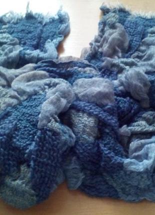 Теплый шарф, 32х200