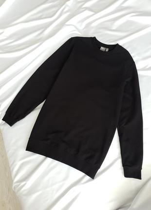 Мужской свитшот базового черного цвета чоловічий світшот базового чорного кольору asos2 фото