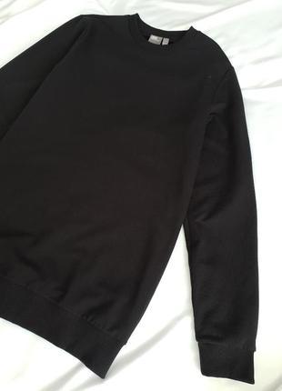 Мужской свитшот базового черного цвета чоловічий світшот базового чорного кольору asos3 фото