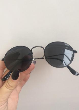 Круглые чёрные очки 🔥
