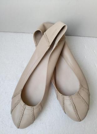 Новые - натуральная кожа! балетки, туфли бренда премиум-класса  -  42 р.