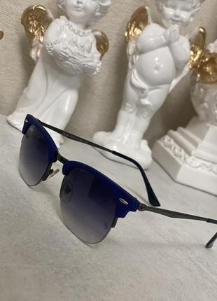 Стильные очки  стиль r -ban  синяя оправа